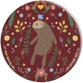 monkimonk Achtsames Faultier Naturliebhaber mit Blumen - PopSockets Ausziehbarer Sockel und Griff für Smartphones und Tablets