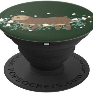 monkimonk Süßes Gelassenes Faultier Naturliebhaber- Baum - PopSockets Ausziehbarer Sockel und Griff für Smartphones und Tablets