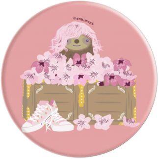 Süßes Faultier Naturliebhaber mit Kirschblüten (Sakura) - PopSockets Ausziehbarer Sockel und Griff für Smartphones und Tablets