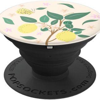 monkimonk Natur und Glück -Zitrone, Blumen, Schmetterlinge - PopSockets Ausziehbarer Sockel und Griff für Smartphones und Tablets