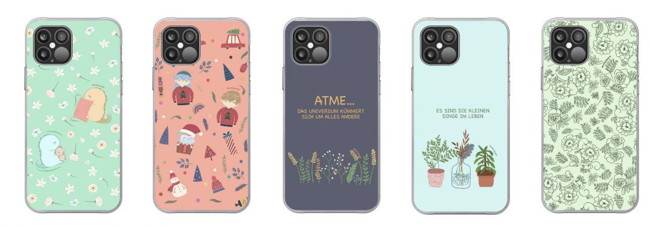monkimonk süße Handyhülle für iPhone, Achtsamkeit, Glück, Kawaii